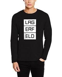 T-shirt manica lunga nera di Karl Lagerfeld