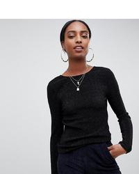 T-shirt manica lunga nera di Noisy May Tall