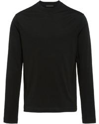 T-shirt manica lunga nera di Prada