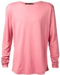 T-shirt manica lunga rosa