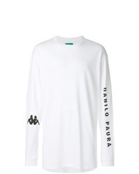 T-shirt manica lunga stampata bianca e nera