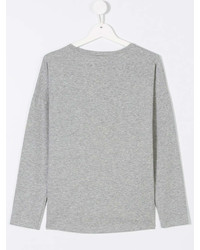 T-shirt manica lunga stampata grigia di Kenzo