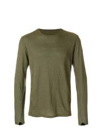 T-shirt manica lunga verde oliva