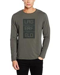 T-shirt manica lunga verde oliva di Karl Lagerfeld