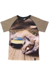 T-shirt marrone chiaro