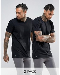 T-shirt nera di Lacoste