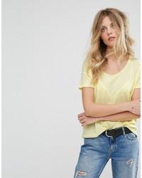 T-shirt senape di Mango