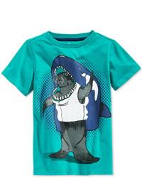T-shirt stampata acqua