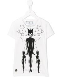 T-shirt stampata bianca e nera di Philipp Plein