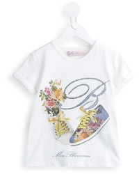 T-shirt stampata bianca