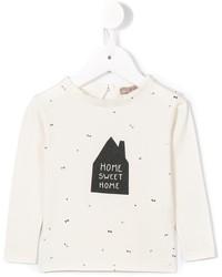 T-shirt stampata bianca di Emile et Ida