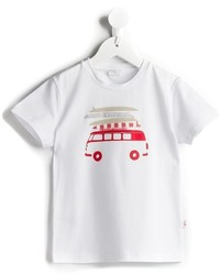 T-shirt stampata bianca di Il Gufo
