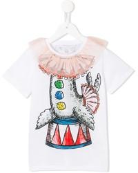 T-shirt stampata bianca di Stella McCartney