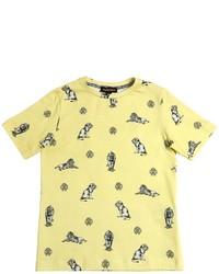 T-shirt stampata gialla