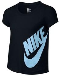 T-shirt stampata nera