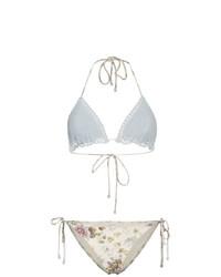 Top bikini all'uncinetto beige di Zimmermann