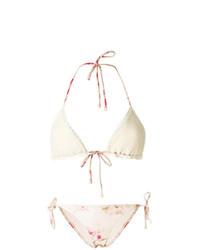 Top bikini all'uncinetto bianco di Zimmermann