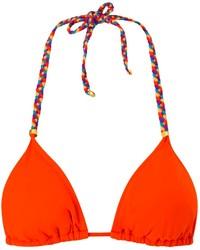Top bikini arancione
