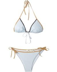 Top bikini azzurro di Fendi