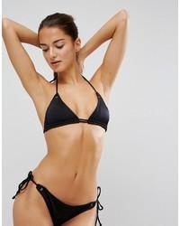 Top bikini con occhielli nero di Asos