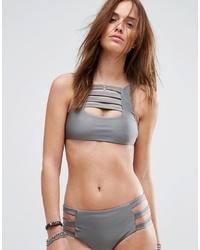 Top bikini grigio di Evil Twin