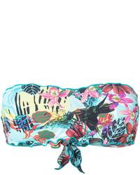 Top bikini stampato acqua di Ermanno Scervino