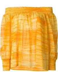 Top con spalle scoperte arancione