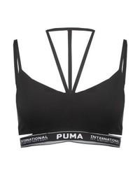 Top corto nero di Puma