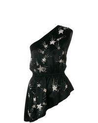 Top senza maniche con stelle nero