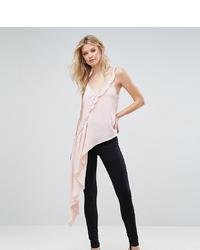 Top senza maniche con volant rosa di Asos Tall
