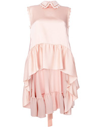 Top senza maniche con volant rosa di Fendi