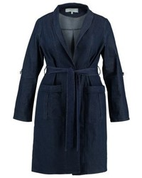 Trench di jeans blu scuro di LOST INK