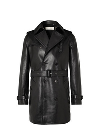 Trench in pelle nero