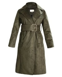Trench in pelle verde oliva di mint&berry