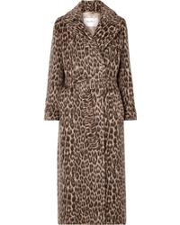 Trench leopardato marrone di Max Mara