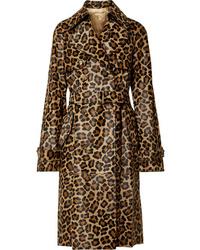 Trench leopardato marrone di Michael Kors Collection