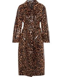 Trench leopardato marrone di Miu Miu