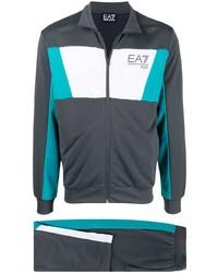 Tuta sportiva grigio scuro di Ea7 Emporio Armani