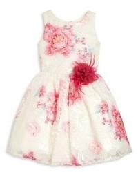 Vestito a fiori bianco