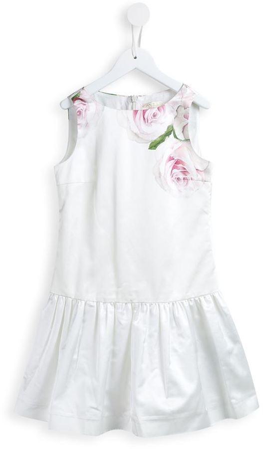 Vestito a fiori bianco di MonnaLisa
