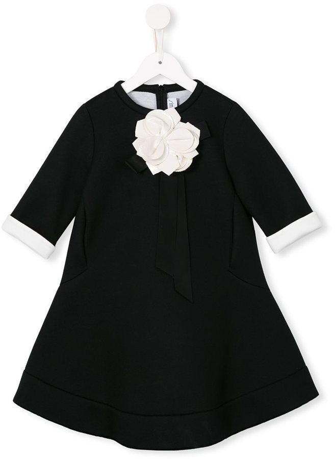 Vestito a fiori nero di Simonetta