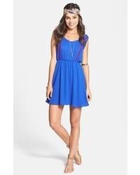 Vestito a pieghe blu original 1420791
