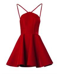 Vestito a pieghe di velluto rosso
