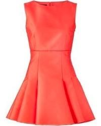Vestito a pieghe rosso