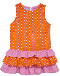 Vestito a pois arancione