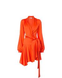Vestito a portafoglio arancione