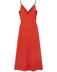 Vestito a portafoglio di lana rosso di Roland Mouret