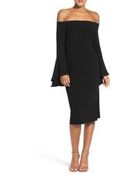 Vestito a spalle scoperte nero