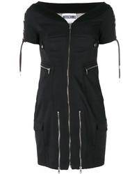 Vestito a spalle scoperte nero di Moschino