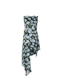Vestito a trapezio a fiori azzurro di Off-White